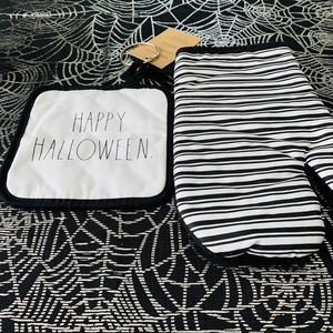 Rae Dunn Happy Halloween Potholder Set